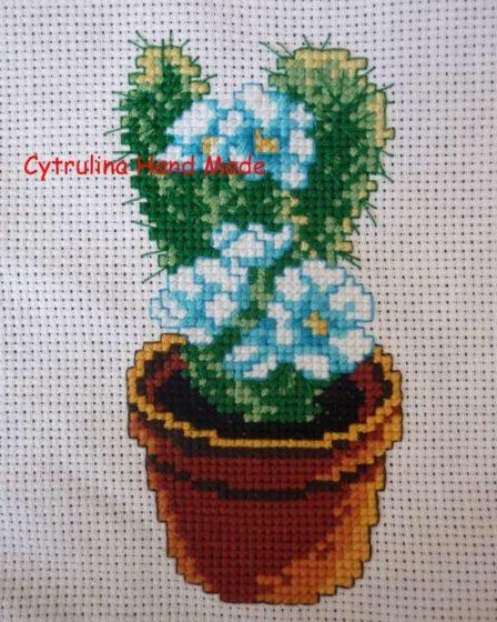 cytrulinahandmade.pl haft krzyżykowy kaktus cz. 60523