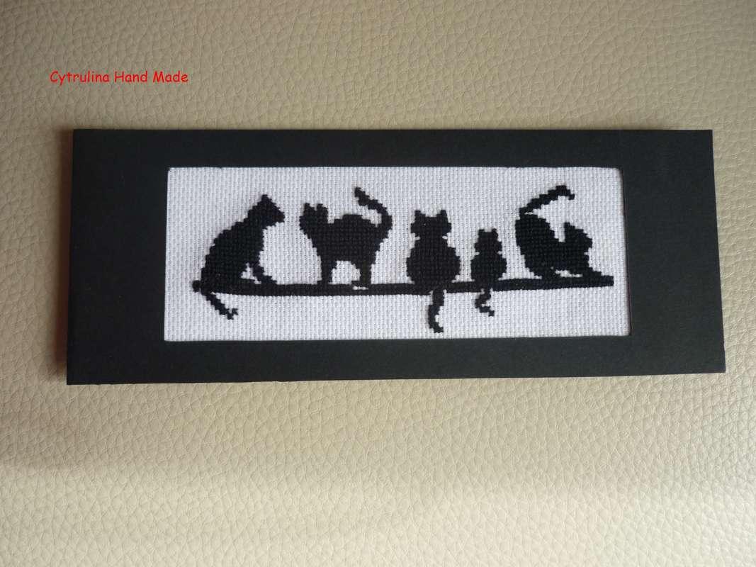 cytrulinahandmade.pl haft krzyżykowy kocia zakładka 0536